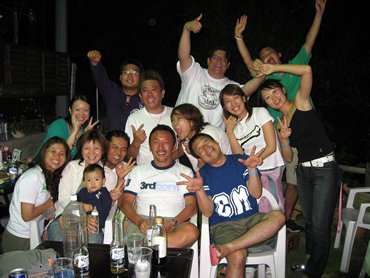 《沖縄チームのバーベキュー大会》
