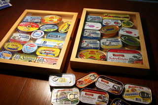 オイルサーディンの缶詰コレクション