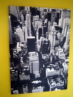 世界のヘソ!NYマンハッタンの空撮写真(パネル)