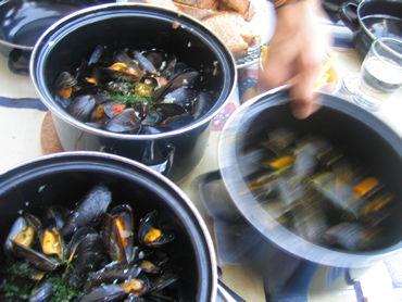 スイスでムール貝の百変化!(ひゃくへんげ!) レマン湖畔のレストラン