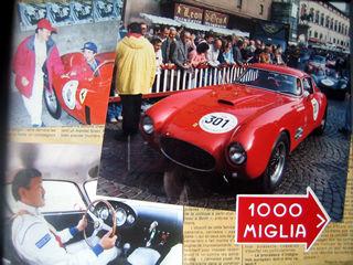 イタリアのクラシックカーレース・ミッレミリア参加者に配布されたバッグ、キーホルダー、スプマンテ、他ノベルティー
