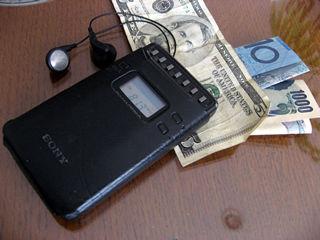 SONYの携帯ラジオ