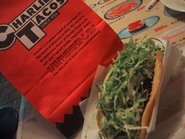 """タコ酢・・・いやタコスです。 メキシコ生まれの沖縄育ち。""""タコス""""。"""